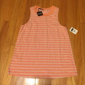 Striped sleeveless shirt -new